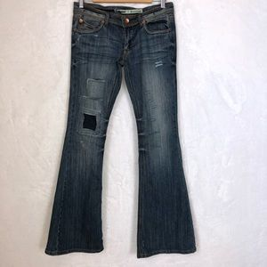 Dollhouse Flare Destroyed Distressed Jeans Sz 7